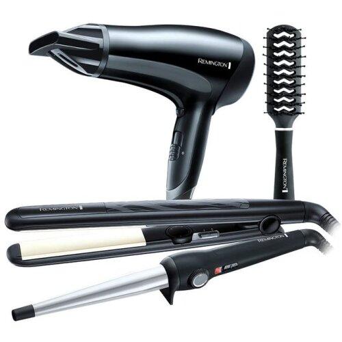 Remington Hair Dryer Wand Straightener & Brush Gift Set For Girl S3500