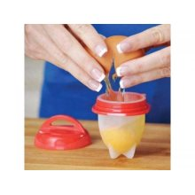 Silicon Egg Boiler Cups - Pack Of 6