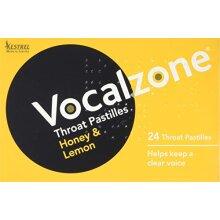 Vocalzone Throat Pastilles Honey & Lemon 24