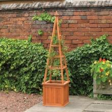 Garden Obelisk Wooden Climber Planter