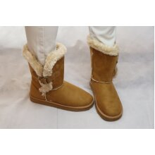 Ladies Fur Lined Flat Ankle Boots