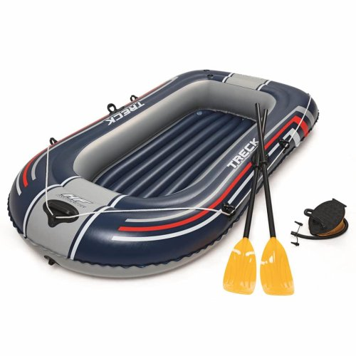 Bestway Hydro-Force Inflatable Boat with Pump and Oars Blue 61083