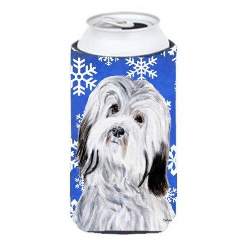 Havanese Winter Snowflakes Tall Boy bottle sleeve Hugger - 22 To 24 Oz.
