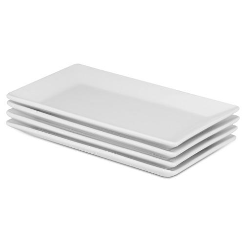 Set Of 4 Porcelain Serving Platters   M&W