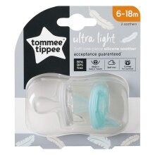 Tommee Tippee?Ultra-Light Silicone Soother, Orthodontic Design, 6-18m, Pack of 2