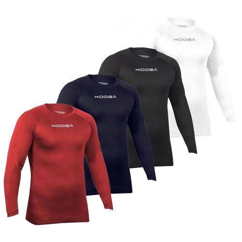 Kooga Elite Performance Kids Long Sleeve Rugby Baselayer Base Layer Shirt