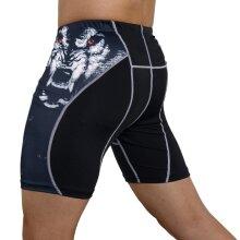 Mens Gym Wear Fitness Training Shorts, Men Dry Fit Running Compression Tight Sport Short