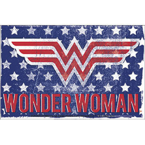 Sticker - DC Comics - Wonder Woman - Stars & Stripes s-dc-0181