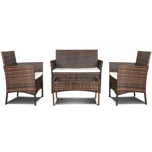4-Piece Rattan Outdoor Furniture Set | Garden Patio Set