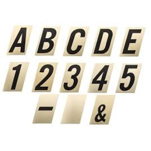 90mm Black On Gold Self Adhesive Numbers And Letters On Onbuy