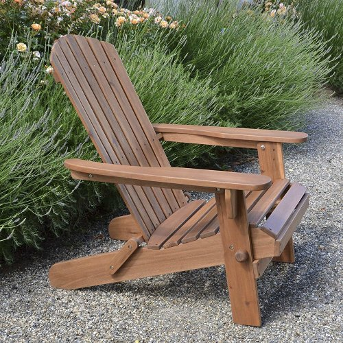 Plant Theatre Adirondack Outdoor Garden Folding Acacia Hardwood Chair with an Oiled Hand Finished