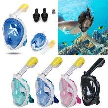 Swimming Scuba Snorkel Set Full Face Anti-Fog Diving Mask For Gopro