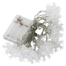 TRIXES 1.5m 20 Warm White LED Snowflake Fairy Lights Home Christmas Decoration