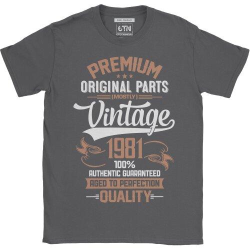 40th birthday gifts for men 1981 Original Parts birthday t shirt