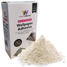 I Want Wallpaper All Purpose Wall Paste Adhesive Paper Glue Hangs upto 5.6 Rolls