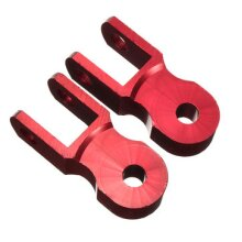 4 Pcs Motorcycle Heightening Device For Shock Absorber Rear Riser Increased Damping Device Booster RED COLOUR