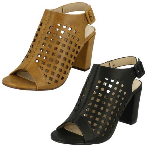 Ladies Spot On Peep Toe Cut Out /'Heels/'