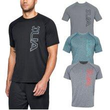 Under Armour Mens UA Tech Graphic SS Lightweight Anti-Odor Tee T-Shirt