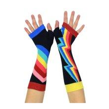 United Oddsocks Multicoloured Stripes Retro Bolts Arm Warmers