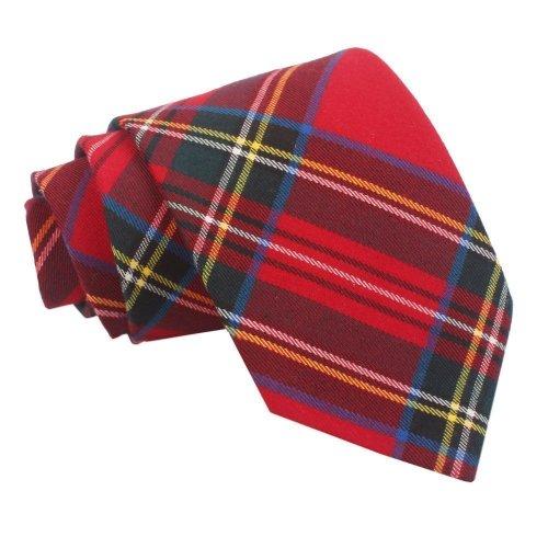 Red Royal Stewart Tartan Classic Tie