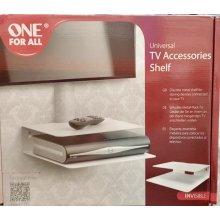 Universal TV Accessories Shelf, Set-Top Box, DVD, PS4 -White Metal