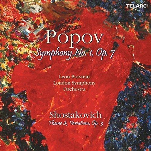 Leon Botstein - Popov: Symphony No. 1, Op. 7; Shostakovich: Theme and Variations, Op. 3 [CD]
