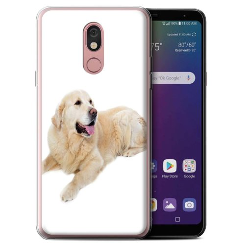 (Labrador) Dog Breeds LG Stylo 5 Phone Case Transparent Clear Ultra Soft Flexi Silicone Gel/TPU Bumper Cover for LG Stylo 5