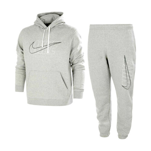 (M) Nike Men's Tracksuit Set Cotton Hoodie Jogger Pant