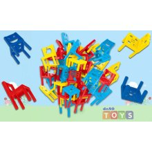 deAO Stacking Chairs Tower Balancing Board Game