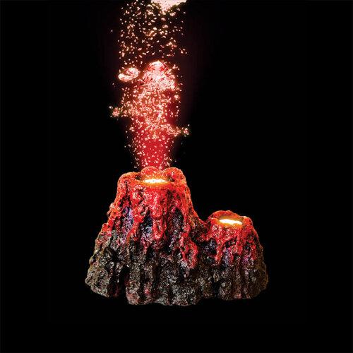 Super LED Underwater Erupting Volcano Aquarium Decoration   1DA208