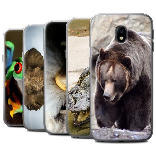 Wildlife Animals Samsung Galaxy J3 2017/J330 Phone Case Transparent Clear Ultra Soft Flexi Silicone Gel/TPU Bumper Cover