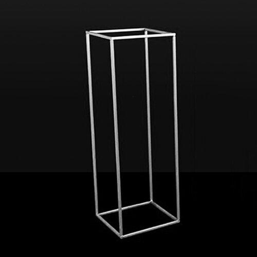 (White) Metal Rack Wedding Art Column Vases Stand