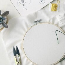 6 Size Round Handy Wooden Cross Stitch Machine Embroidery Hoop Ring
