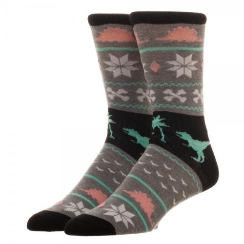 Crew Sock - Free Authority - Dinosaur Holiday New cr66j8gen