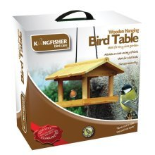 Kingfisher Wooden Hanging Bird Table | Bird Feeder Table