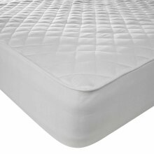 Luxury Hollow Fibre Quilted Mattress Topper with Straps 2 cm Thick