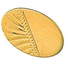 Oval Engraved Tie Tack Tie Pin Gold Made To Order in Jewellery Quarter B'ham