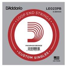 Banjo Mandolin Guitar Single String D'Addario LE023PB Phosphor Bronze Loop End .023