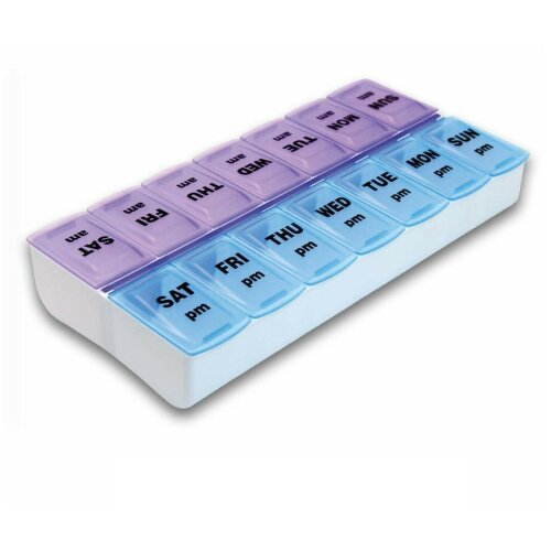 Weekly AM/PM Pill Organiser Box | 7-Day Medication Dispenser