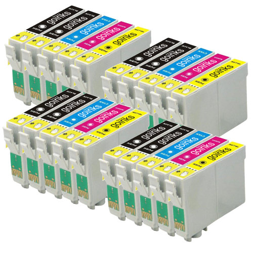 4 Go Inks Set of 4 + extra Black Ink Cartridges to replace Epson T1285+1281 Compatible / non-OEM for Epson Stylus Office Printers (20 Inks)