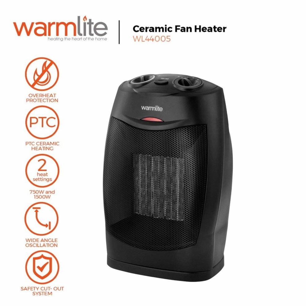 Warmlite Wl44005 Energy Efficient Ceramic Fan Heater 1500 W