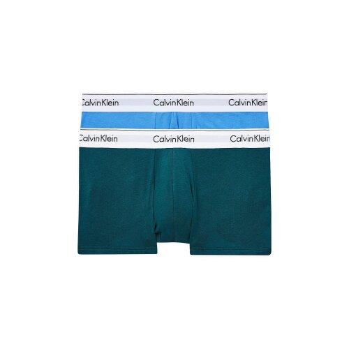 Calvin Klein 2 Pack Low Rise Trunks- Modern Cotton ( BLUE BURST/ MAYA BLUE )