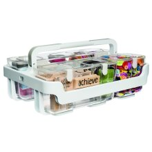 Deflecto Caddy Organizer Stackable with Three Compartments