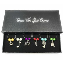 Musical Wine Glass Charms with Gift Box