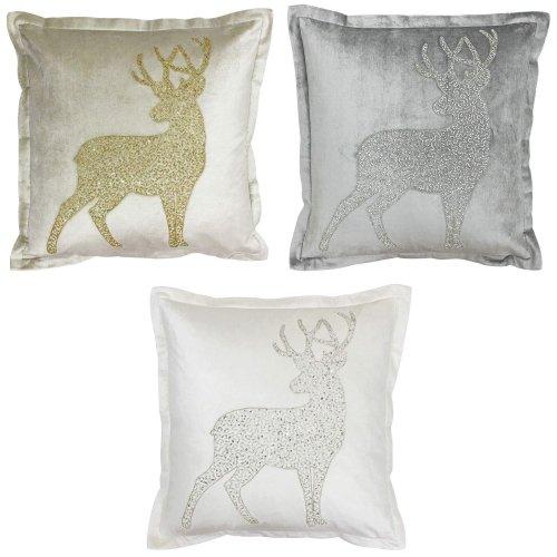 Riva Paoletti Wonderland Prancer Christmas Cushion Cover