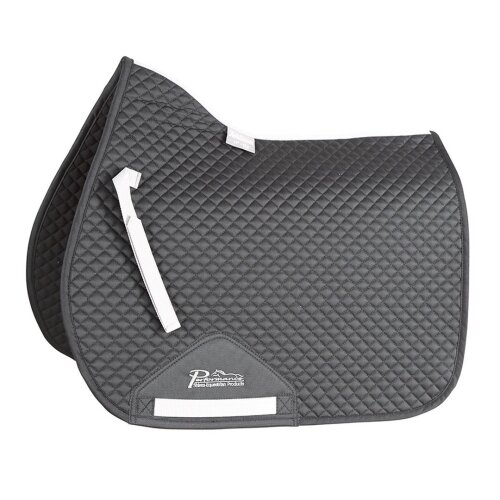 (15in - 16.5in, Black) Performance Suede Horse Saddlecloth
