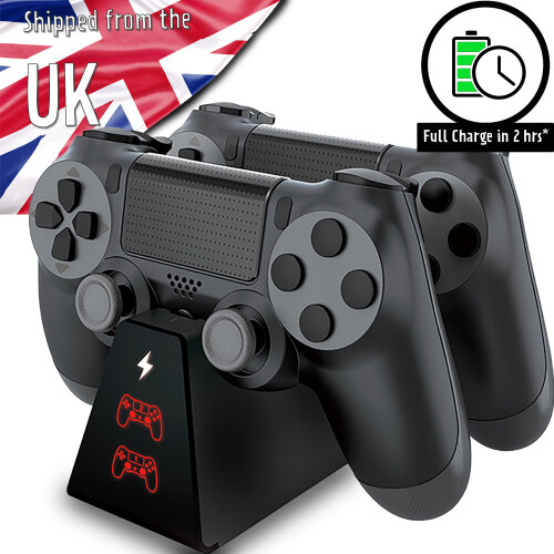 PS4 Controller Compact Charger Station Dual Controller Fast Charging