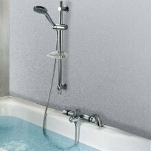 Classic Thermostatic Bathroom Bath Shower Valve Mixer Tap With Slide