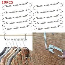 Set of 10 Metal Magic Clothes Closet Hangers Coat Clothing Organizer Space Saver