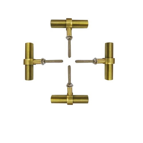 classic Brass Cylindrical Glass Knobs Set Of 4 Kitchen Cabinet Cupboard Door Dresser Drawer Bedroom Furniture Handle Pull By Perilla Home